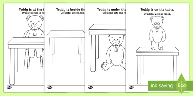Teddy bear prepositions colouring pages englishromanian in teddy bear prepositions colouring pages englishromanian in on under beside ccuart Image collections