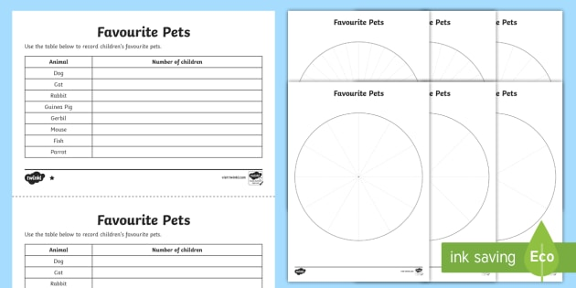 Ks2 Pie Chart Differentiated Worksheet Worksheets Interpret And