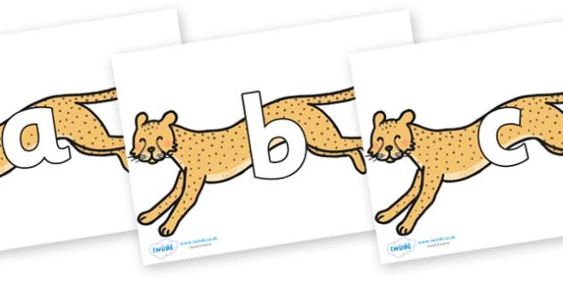 Phoneme Set on Cheetahs - Phoneme set, phonemes, phoneme, Letters and Sounds, DfES, display, Phase 1, Phase 2, Phase 3, Phase 5, Foundation, Literacy