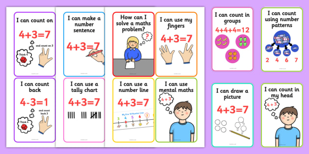 Solving Maths Problems Strategy Cards - solving maths, strategy cards, solving maths cards, maths problems, solving maths problems cards