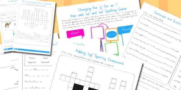 Year 2 Spelling Activities Resource Pack - australia, spelling