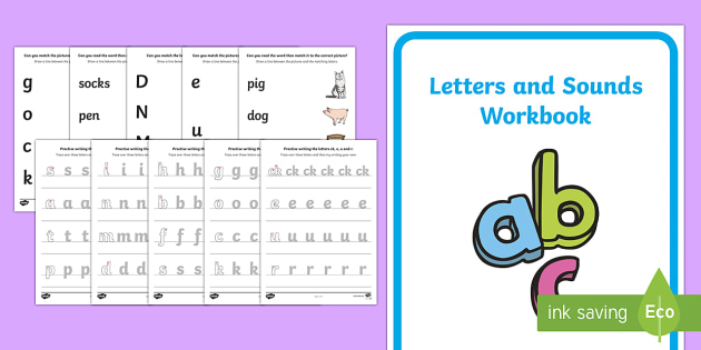 Letters and Sounds Phase 2 Workbook Pack - letter, workbooks
