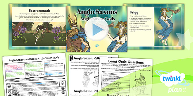 History: Anglo Saxons and Scots: Anglo Saxon Gods LKS2 Lesson Pack 5