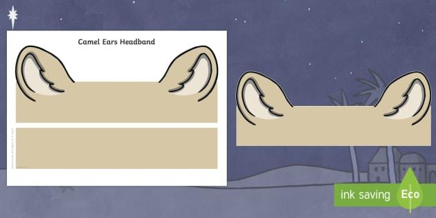 Camel Ears Headband -  nativity, christmas, camel, camel ears, cutouts