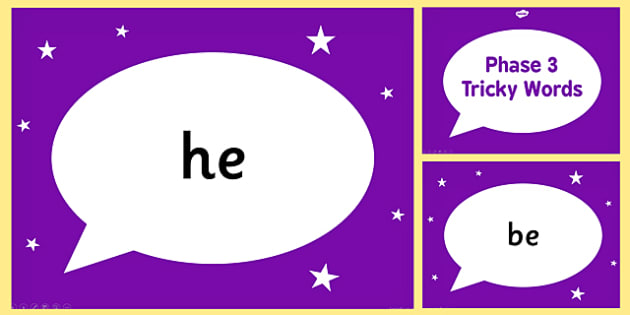 Phase 3 Tricky Words PowerPoint - phase 3, tricky, powerpoint