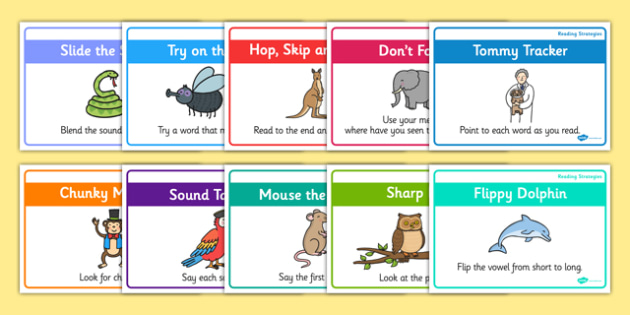 Guided Reading Strategy Cards - Guided, Reading, Strategy, Cards