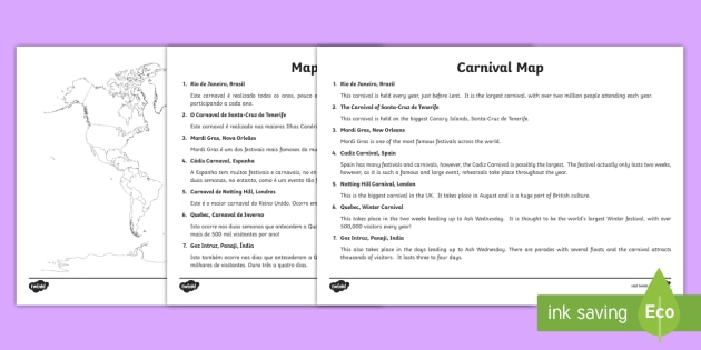 Carnivals around the world map labelling activity carnivals around the world map labelling activity englishportuguese ks2 geography maps gumiabroncs Gallery