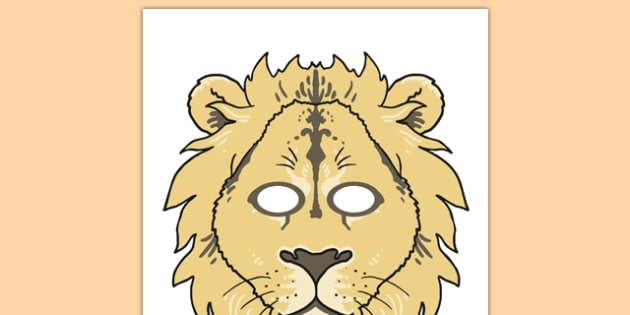 Lion Mask Template Printable Blank Or Colour Here you can explore hq lion mask transparent illustrations polish your personal project or design with these lion mask transparent png images, make it even more personalized and more attractive. lion mask template printable blank