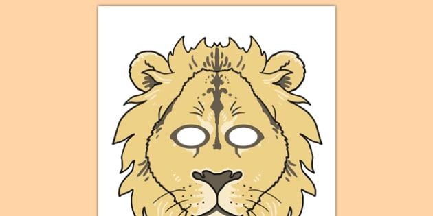 Lion leather mask lion king lioness aslan halloween mask.