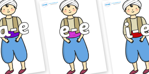 Modifying E Letters on Aladdin - Modifying E, letters, modify, Phase 5, Phase five, alternative spellings for phonemes, DfES letters and Sounds