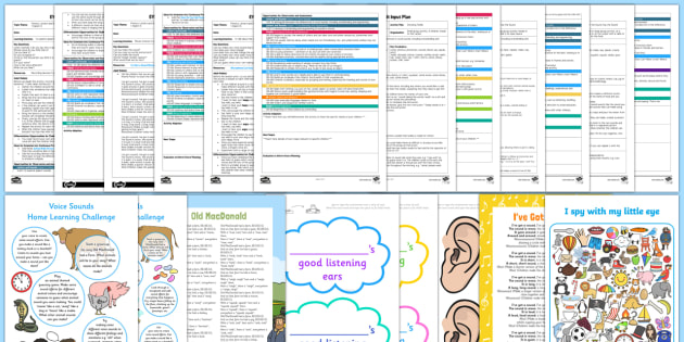 Phase 1 Aspect 6: Voice Sounds Adult Input Planning and Resource Pack -  EYFS,