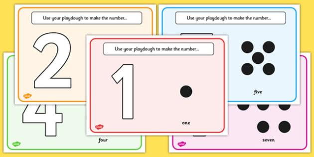 Simple Number Playdough Mats 1 10 Playdough Mat Playdough