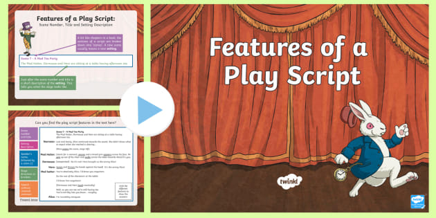 talk for writing playscripts