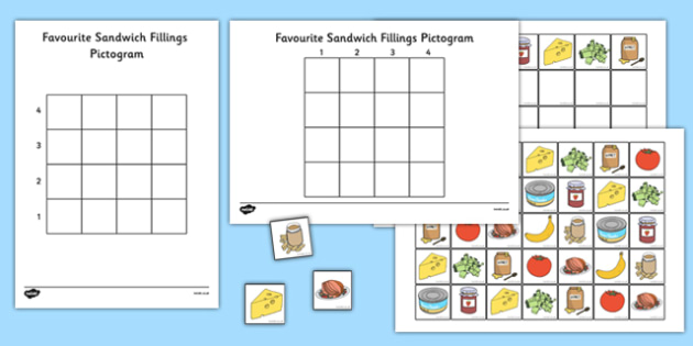 Favourite Sandwich Fillings Pictogram Resource Pack - favourite, sandwich, pictogram