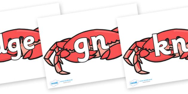 Silent Letters on Crabs - Silent Letters, silent letter, letter blend, consonant, consonants, digraph, trigraph, A-Z letters, literacy, alphabet, letters, alternative sounds
