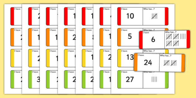 Tally Loop Cards - tally, loop cards, loop, cards, numeracy, maths