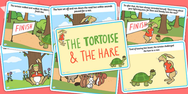 The Tortoise And The Hare Story Cards Teacher Made
