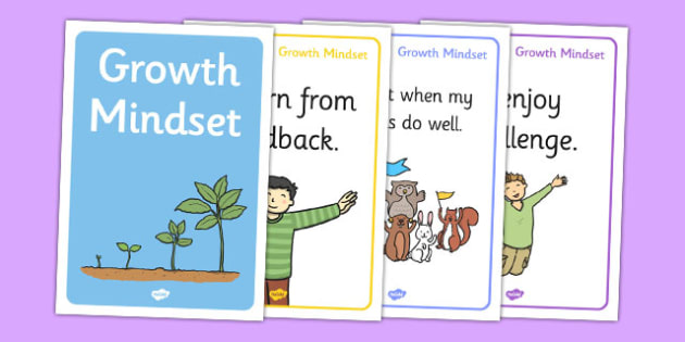 Growth Mindset Statement Posters KS1 - growth, mindset, statement, posters, ks1