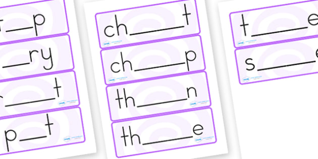 Fill in the Blank Word Cards - words, literacy, cards, english