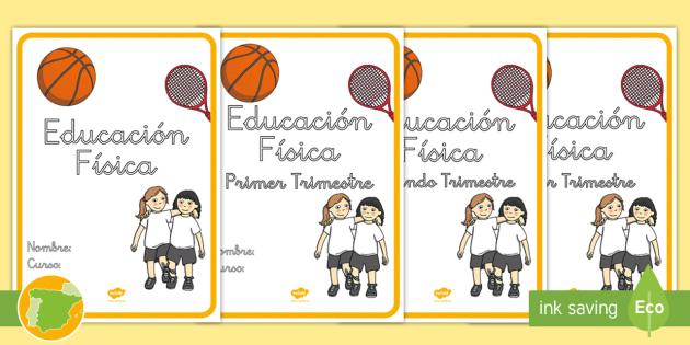 * NEW * Portadas Para Cuadernos: Educación Física