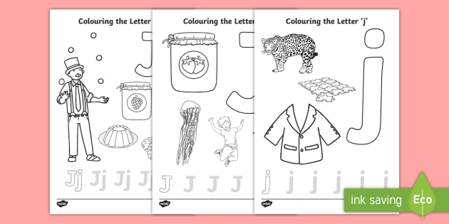 Letter J Coloring Pages Teacher Made