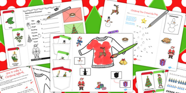 Early Year Christmas Lapbook Creation Pack - lapbooks, christmas