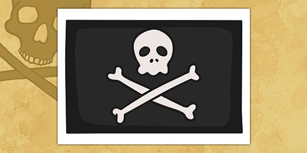 Pirates Jolly Roger Display Flag - Pirate, Pirates, Flag, pirate flag, Topic, Display, Posters, Freize, play, pirate, pirates, treasure, ship, jolly roger, ship, island, ocean