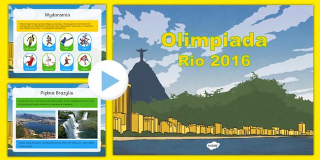 Prezentacja PowerPoint Olimpiada Rio 2016 po polsku