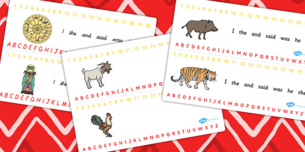 Chinese New Year Story Combined Number and Alphabet Strips - year