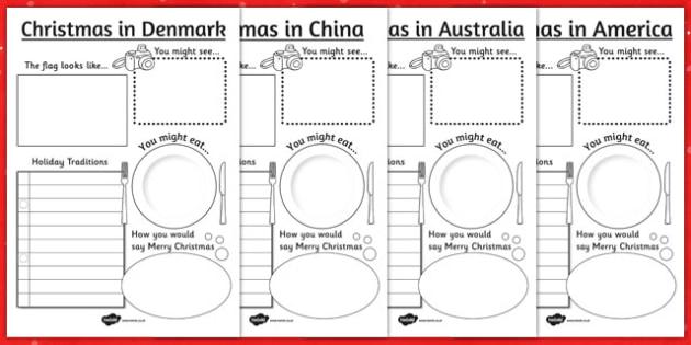 christmas around the world writing frames christmas writing - How Do You Say Merry Christmas In Australia