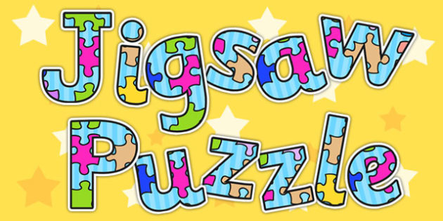 FREE! - Jigsaw Puzzle Display Lettering - puzzles, letters, display