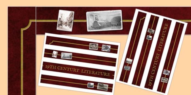 19th Century Literature Display Borders - 19th century, literature, display, borders