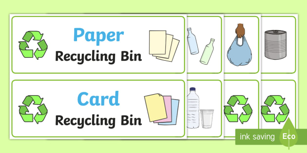 photograph about Recycle Labels Printable identify Cost-free! - Recycling Bin Labels