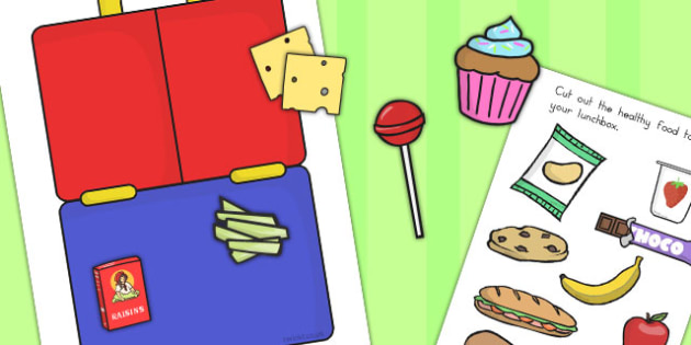Healthy Eating Lunch Activity - Healthy, Eating, Food, Vitamins