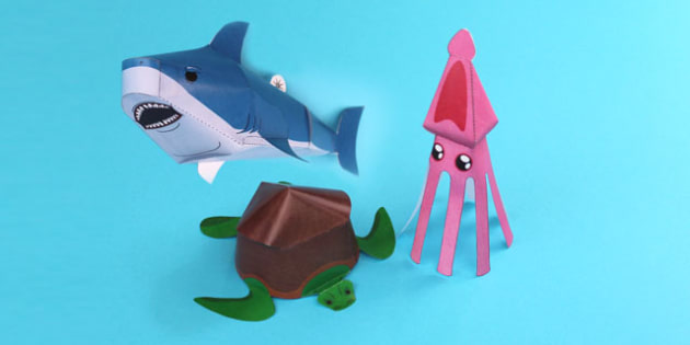 Under the Sea Paper Models Pack - under the sea, paper, models