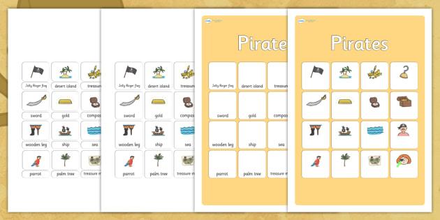 Pirates Vocabulary Matching Mat - pirates, vocabulary, vocabulary poster, pirates poster, display poster, poster for display, classroom display, posters