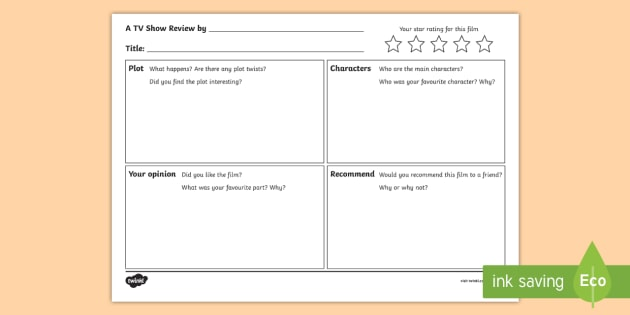 new tv show review writing template templates write
