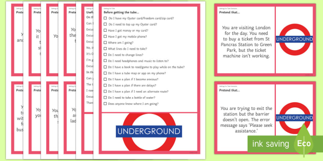 Getting the Tube Scenarios and Social Scripts