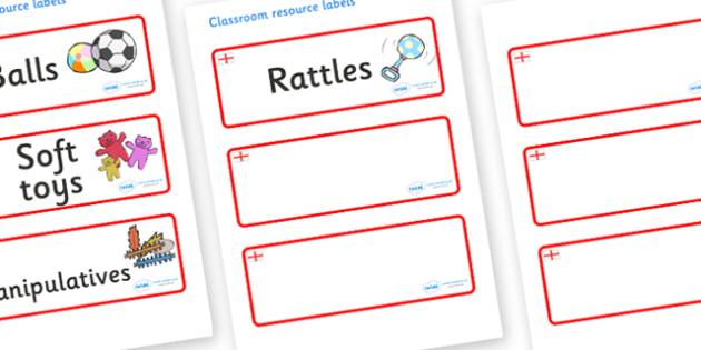 England Themed Editable Additional Resource Labels - Themed Label template, Resource Label, Name Labels, Editable Labels, Drawer Labels, KS1 Labels, Foundation Labels, Foundation Stage Labels, Teaching Labels, Resource Labels, Tray Labels, Printable