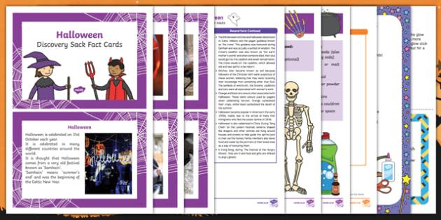 Halloween Discovery Sack - Early Years, KS1, festivals, Hallowe'en, halloween, discovery, sack