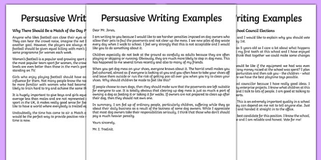 Persuasive writing sample expocarfo