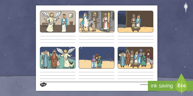 Nativity Storyboard Template Christmas Bible Stories