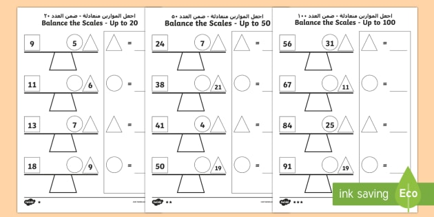 Balance the Scales Differentiated Worksheet / Worksheets ...