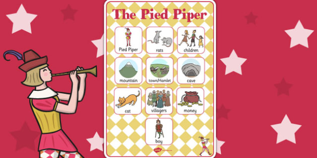 The Pied Piper Vocabulary Poster - vocabulary, poster, display