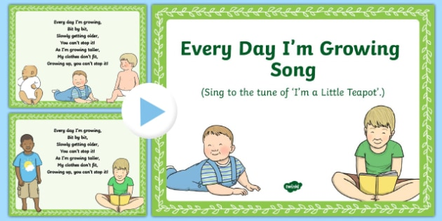 Everyday I'm Growing Song PowerPoint