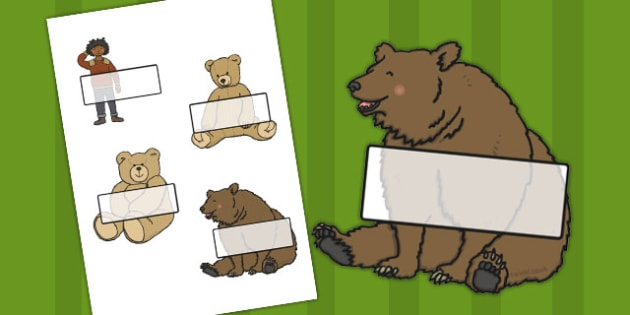 Editable Self-Registration Labels (I've Lost My Teddy Where Is It) - Self registration, register, editable, labels, registration, child name label, printable labels, Where's My Teddy, teddy, woods, forest, lost, bear, reading, story, story book, stor