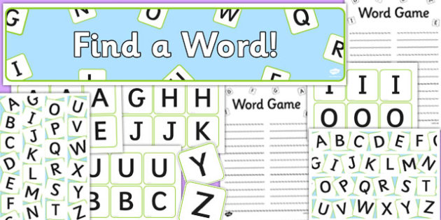 Word Game Display Pack - word game, display, pack, boggle