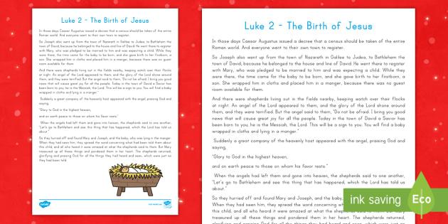 Luke 2 Nativity Bible Story - Bible, Christmas, Nativity ...
