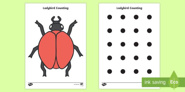 Ladybird Spot Counting Activity - ladybird, Maths, Math, spots