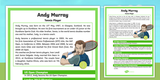 Andy Murray Display Facts Posters - Scottish